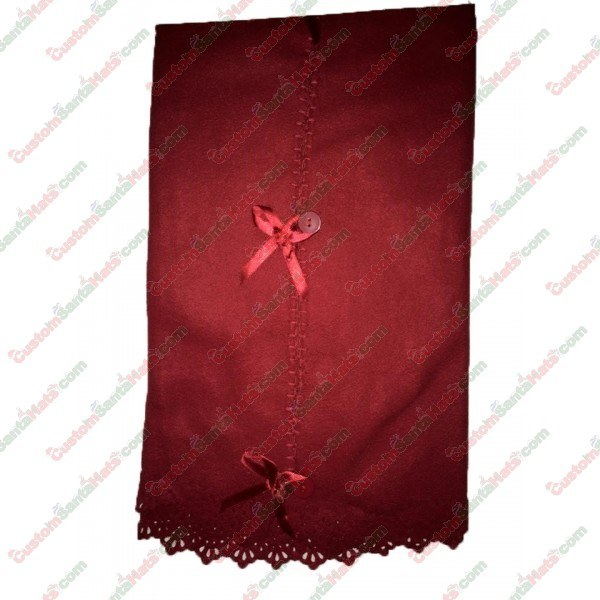 Fleece Button Tree Skirt Red