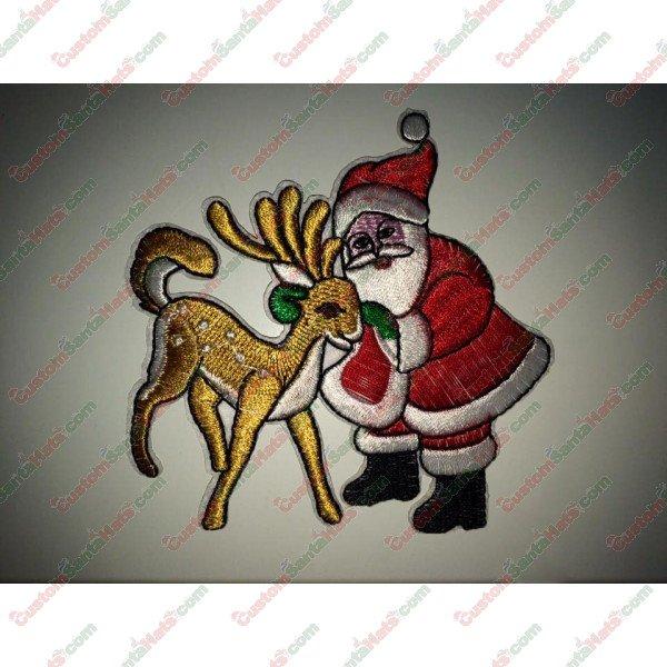 Santa and Reindeer Decoration