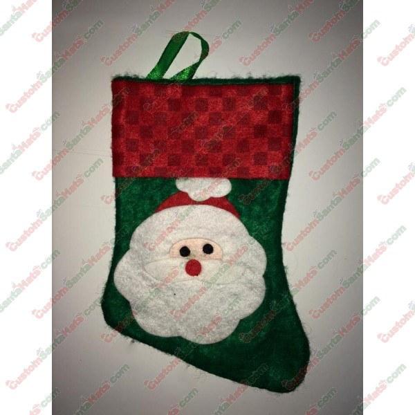 Mini Santa Stocking Green