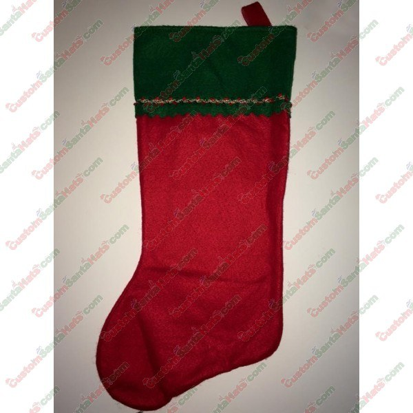 Green Top Red Felt Stocking