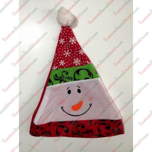 Snowman 3-Tier Santa Hat
