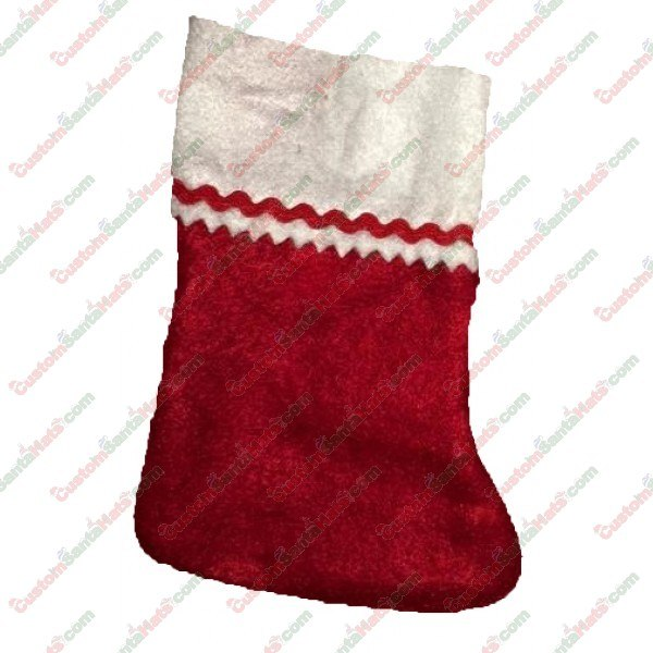 Baby Red and White Felt Stocking