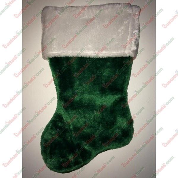 Green Plush Stocking