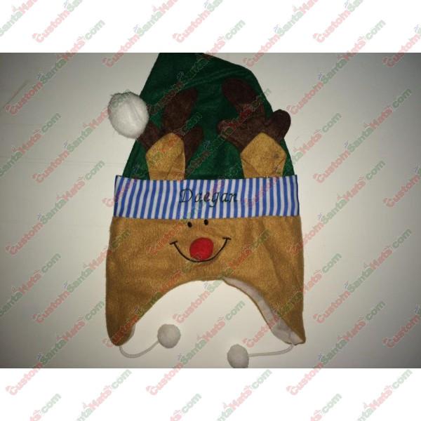 Kids Reindeer Santa Hat