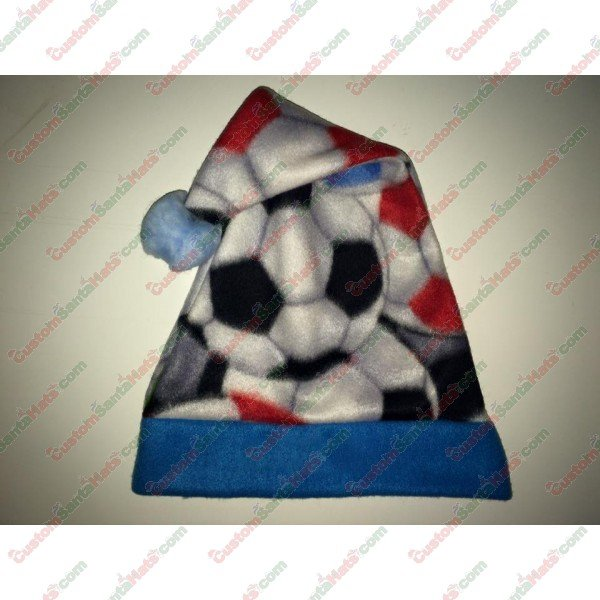 Fleece Soccer Blue Santa Hat -  5 Custom Santa Hats 81e5cb7463a