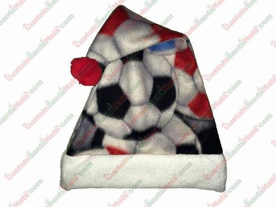 Fleece Soccer Santa Hat