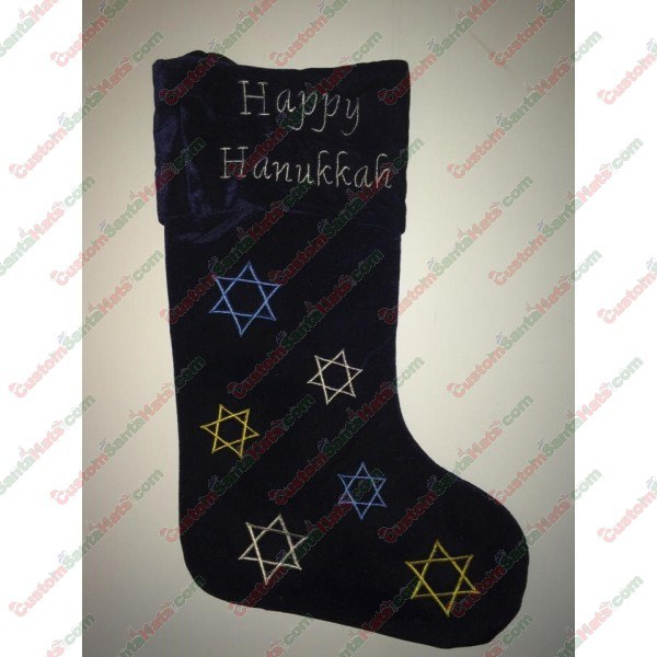 badd2d14cb8f0 Hanukkah Stocking -  5 Custom Santa Hats