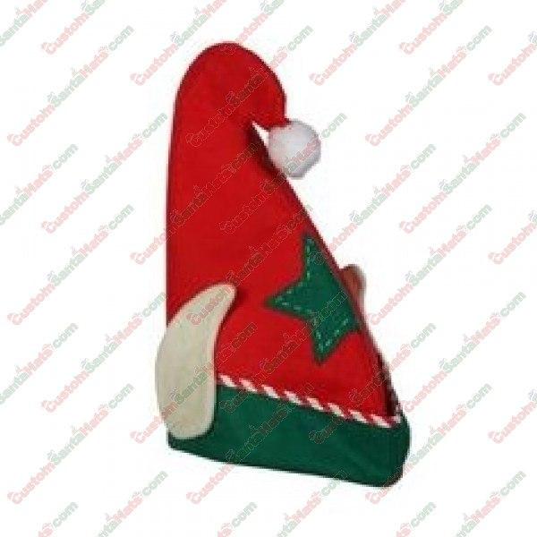 0a20e132eb870b Elf Felt Hat With Ears Red - All Santa Hats - Custom Santa Hats - $5 Custom Santa  Hats