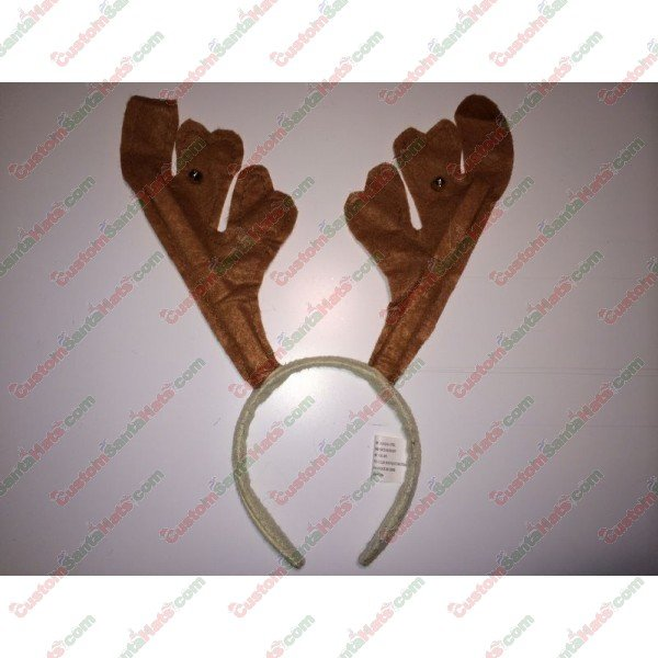 Deer Antler Headband Brown