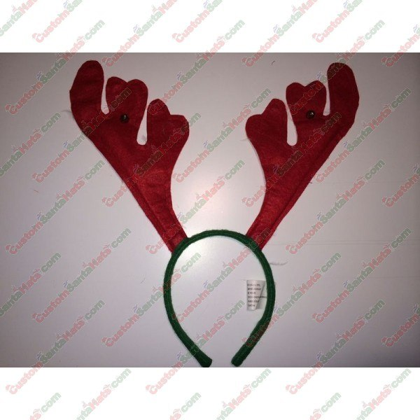 Deer Antler Headband Red
