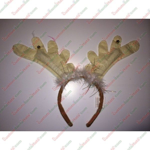 Deer Antler Headband Tan