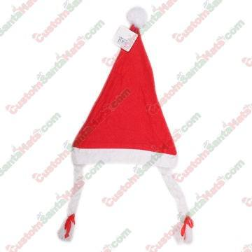 Economy Felt Santa Hat With Braids - Clearance -  5 Custom Santa Hats a92b4ca58866
