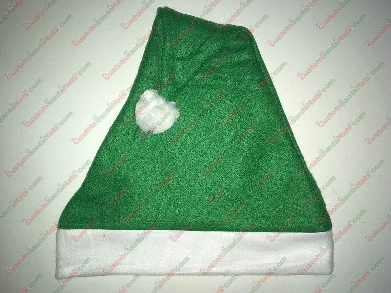 Fleece Green Santa Hat SSF - All Santa Hats - Custom Santa Hats -  5 Custom  Santa Hats 2115b1be3600