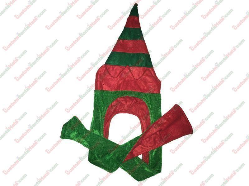 3 Foot Elf Hat Green & Red