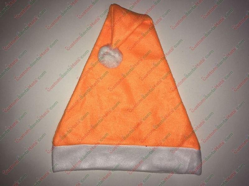 Fleece Orange Santa Hat SSF