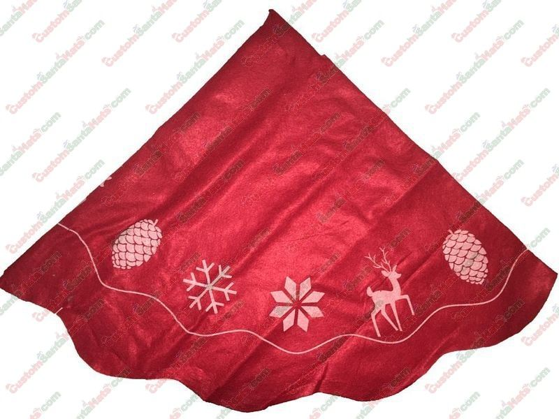 Red Felt Tree Skirt