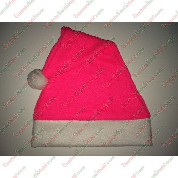 Fleece Hot Pink Santa Hat