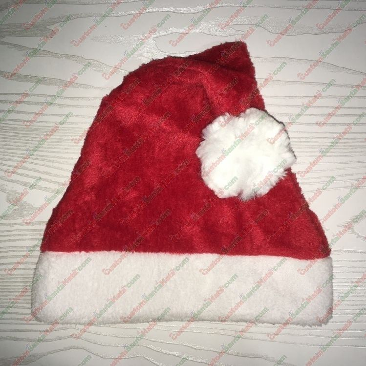 Big Ball Santa Hat Plush Red