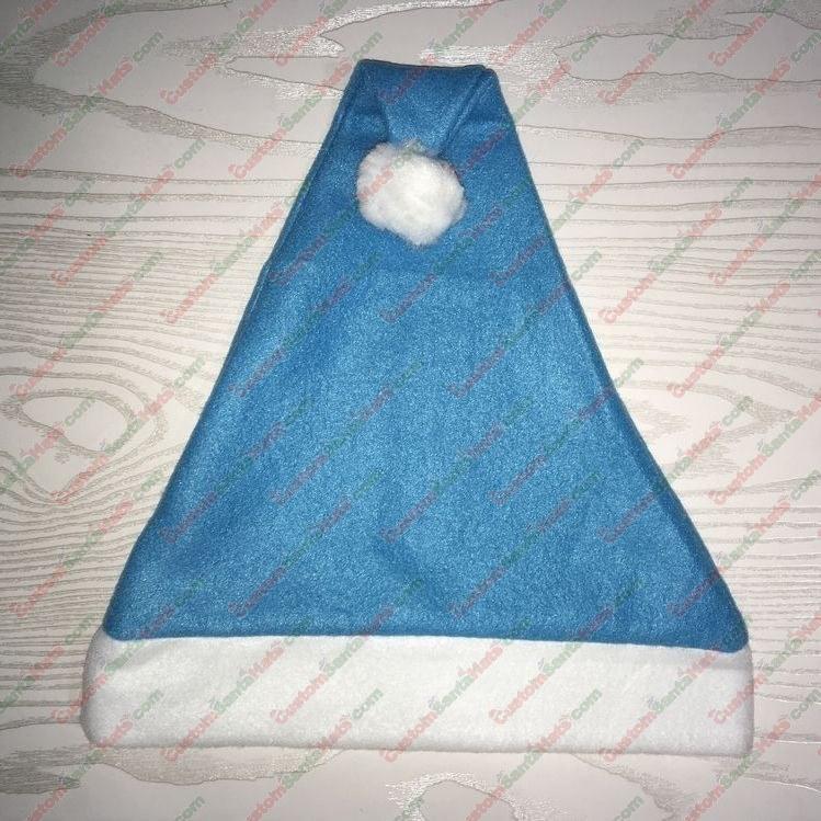 Fleece Light Blue Santa Hat SSF - All Santa Hats - Custom Santa Hats -  5 Custom  Santa Hats b698fc013289
