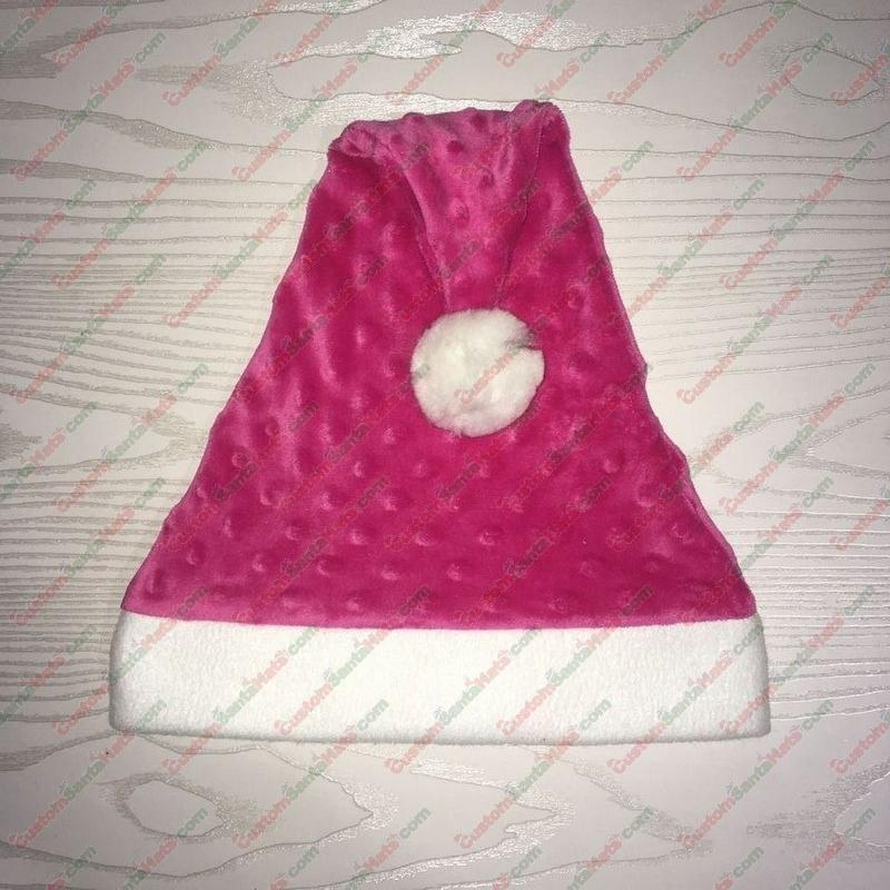 Hot Pink Dot Santa Hat