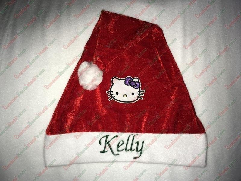 6378cae713d99 Hello Kitty Santa Hat - All Santa Hats - Custom Santa Hats -  5 Custom Santa  Hats