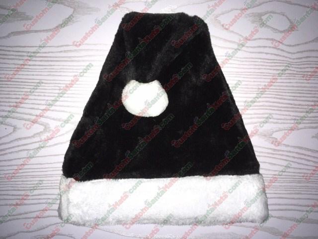 Black Plush Santa Hat