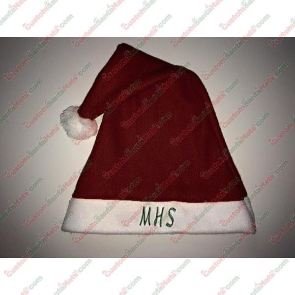 Fleece Maroon Santa Hat -  5 Custom Santa Hats 2ff3c79ce90b