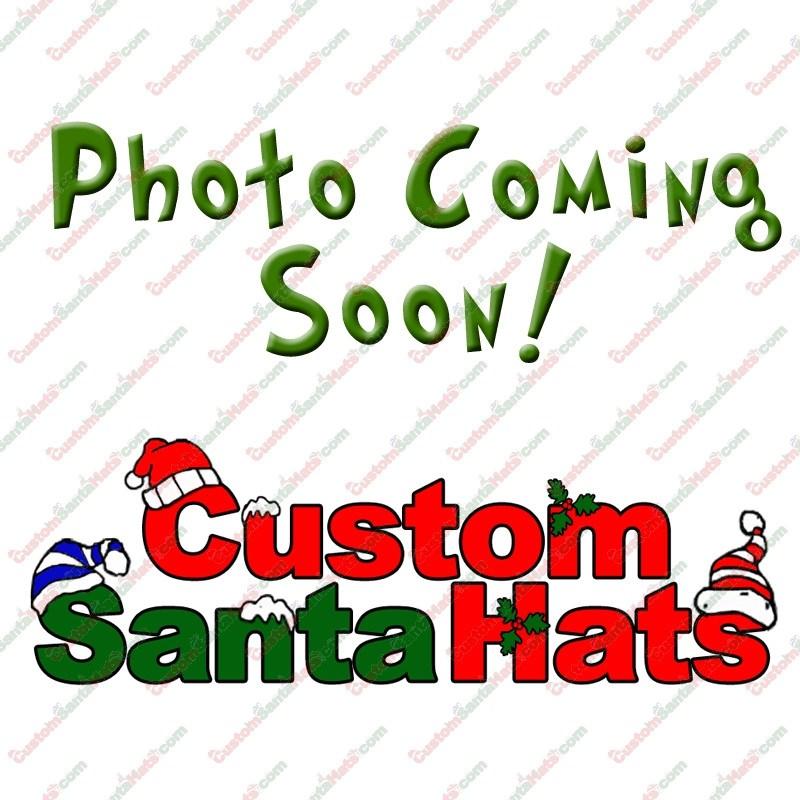 Metallic Red Fleece Santa Hat