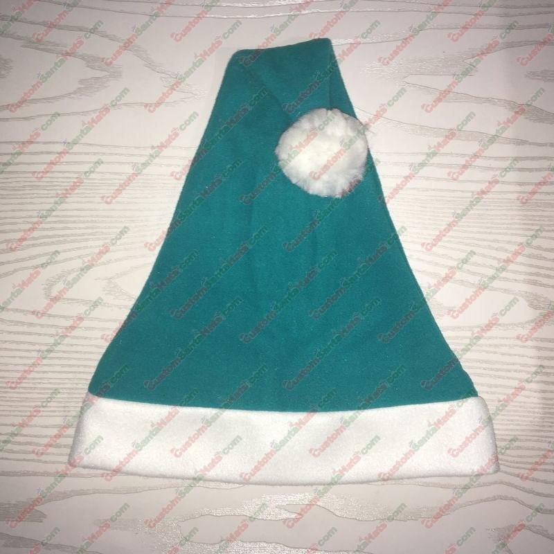 Caribbean Blue Teal Santa Hat