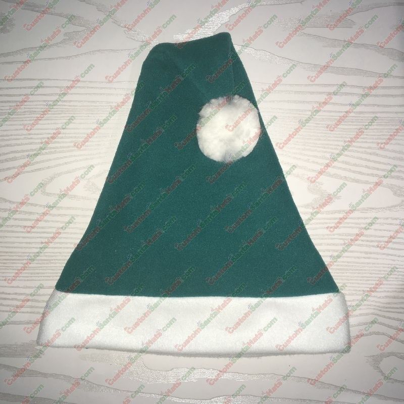 Dark Teal Santa Hat