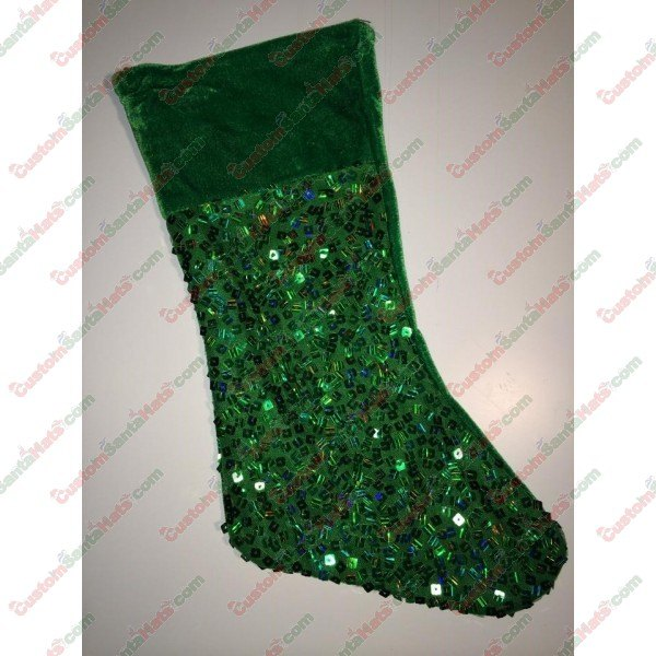 Green Sequin Stocking