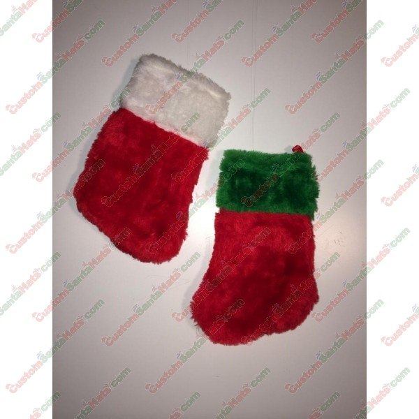Baby Green and Red Stocking