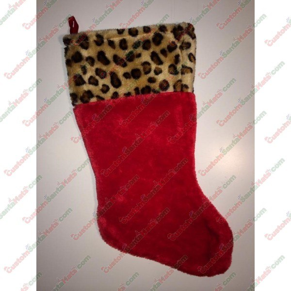 Cheetah Red Stocking