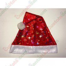 Red Santa Hat With Color Stars