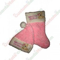 Baby First Stocking and Hat Set