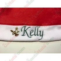 Gold Reindeer Name Charm