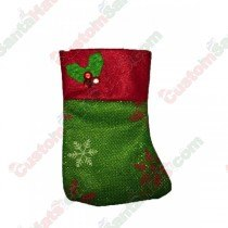 Mini Green Holly Stocking