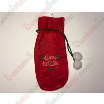 Happy Holidays Red Bottle Holder