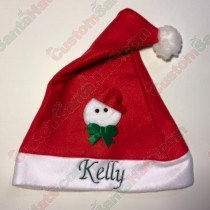 Snow Man Santa Hat