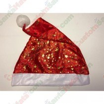 Red Santa Hat Small and Large Gold Stars