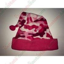 Camo Pink Santa Hat