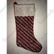 Sparkle Red and White Stocking