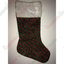 Sparkle Red and Green Stocking