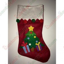 Felt Christmas Tree and Presents Stocking