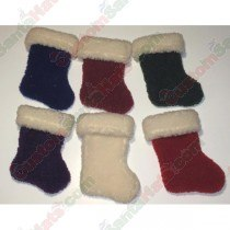 Baby White on Maroon Stocking Soft