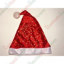 Red Santa Hat Small Gold Stars