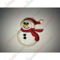 Snowman red scarf Patch