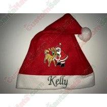 Santa and Reindeer Santa Hat