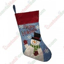 Felt Happy Holidays Snowman Stocking