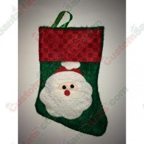 Mini Santa Stocking Green